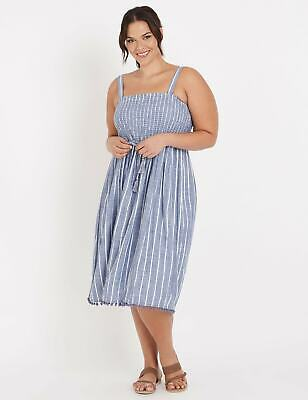 NEW Women's Autograph Dress Shirred Pom Po - Plus Size