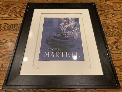 Cognac Martell 1949 Advertising Print Paris France ADART laguna Beach, CA Framed