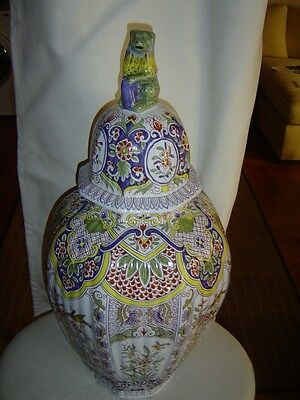 Tiffany & Co. Tall Handpainted Porcelain  Covered Vase Made By Limoges/France
