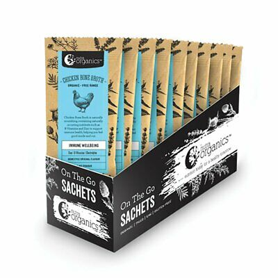 NUTRA ORGANICS Chicken Bone Broth Organic Hearty Original sachets 20x8g