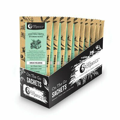 NUTRA ORGANICS Vegetable Broth Organic Garden Veggie sachets 20x6g