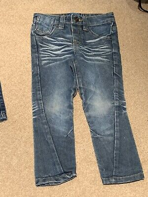 Boys Blue Zoo Denim Jeans Age 4 Years.