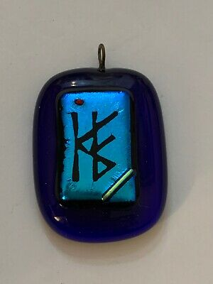 Vintage Asian Chinese Hand Blown Glass Good Luck Pendant