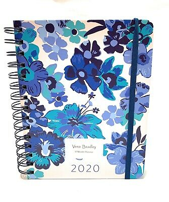 Vera Bradley Blue Floral Medium Size 17 Month Planner NEW 2020