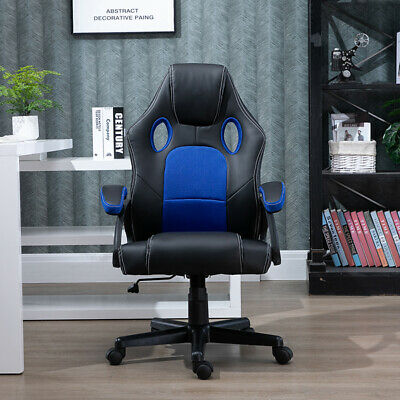 Executive Racing Gaming Office Chair Swivel Sport Computer Chair PU Leather Home