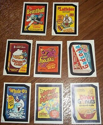 Vintage Topps Wacky Packages 1982 cereal album sticker lot Dinky Gonuts Laffelos