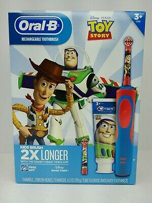 Toy Story Oral-B Rechargeable Toothbrush Set 5 pcs Includes Charger 2 Brush Head