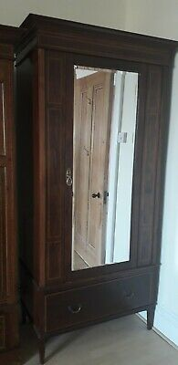 Large Edwardian Inlaid Wardrobe