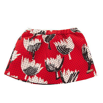 MOSCHINO BABY A-Line Skirt Size 3Y Tulips Pattern Fully Lined Elasticated Waist