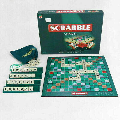 Scrabble Board Game Family Kids Adults Educational Toys Puzzle Game V4O9W