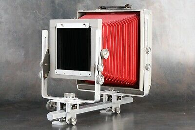 :Burke & James Grover 8x10 View Monorail Large Format Camera w/ Red Bellows