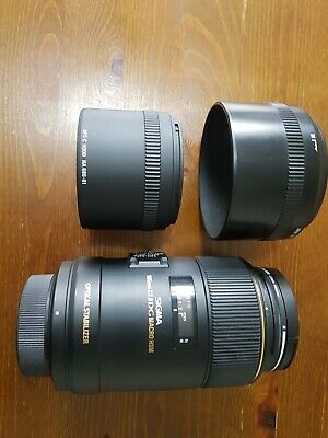 Sigma EX 105mm F/2.8 OS HSM DG Lens. Macro photography, Mint condition + filter