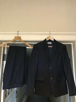 Boys H&M Navy Suit -worn ONCE ONLY - age 13-14 - Rrp £ 35