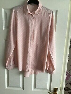 Ex River Island Button-Down White Pleated Blouse Size 8-16 P86