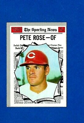1970 Topps Baseball Card #458 Pete Rose All-Star Vg-Ex/Ex Reds No Crease