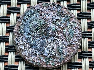 Bronze Coin Of Trajan 97-117Ad Ae Dupondius Ancient Roman Coin