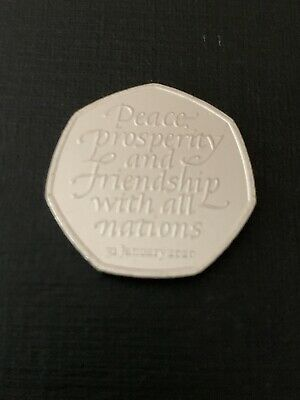50p Coin 2020 Brexit Peace Prosperity Friendship Brand New FREEPOST
