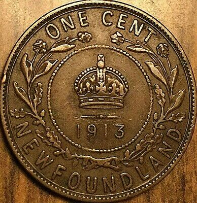1913 Newfoundland Large Cent Penny Large 1 Cent Coin