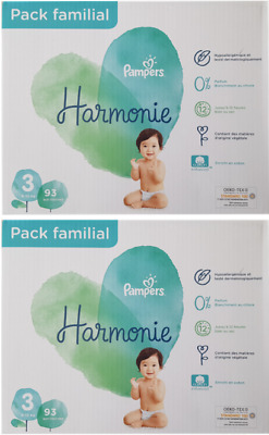 Lot de 186 couches Pampers Harmonie Taille 3 (6-10 kg)