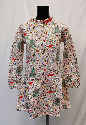 Boden Girl's L/S Festive Cosy Bow Dress AN3 Milkshake Pink Size 11-12Y NWT