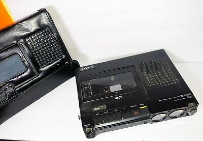 SONY TC-D5 VINTAGE Portable Cassette Recorder. w Leather Case WORKS GREAT!