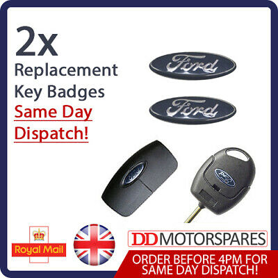 2 X Ford Remote / Key Fob Badge Logo Emblem Sticker 18Mm For Focus Fiesta Galaxy
