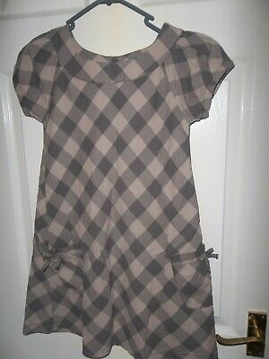 Vertbaudet Girls Tunic Dress Age 8 years - check design -wear over rollneck top