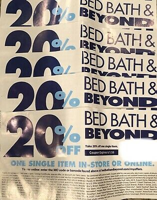 5 - Bed Bath Beyond 20% off 1 Item *** In store & Online Coupon***   Exp 6/1/20