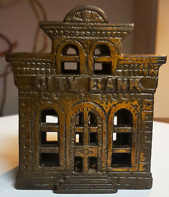 Antique Original City Bank with Director's Room, John Harper Ltd. Cast Iron 1902