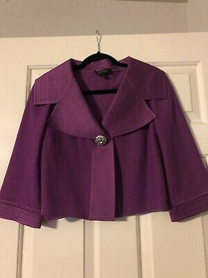 St John Knits Purple Satin 6
