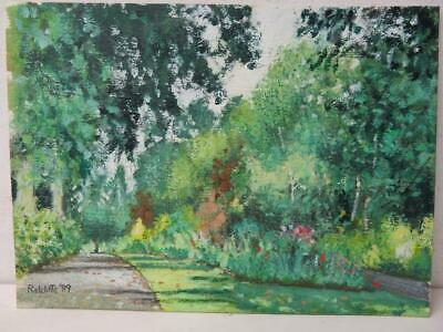 old PAINTING valley gardens signed Allan Radcliffe