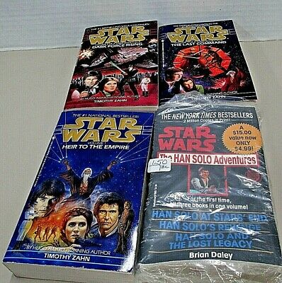 Lot of 4 Star Wars Thrawn Trilogy Novels Timothy Zahn & Han Solo Adventures Tril
