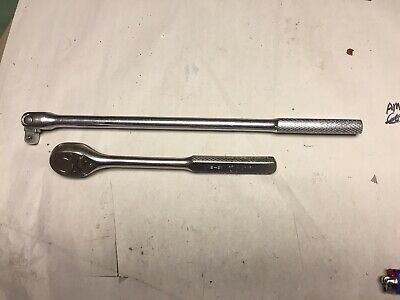 """Vintage Armstrong S-41 And S-91, 1/2"""" Drive Socket And Breaker Bar Wrenches"""