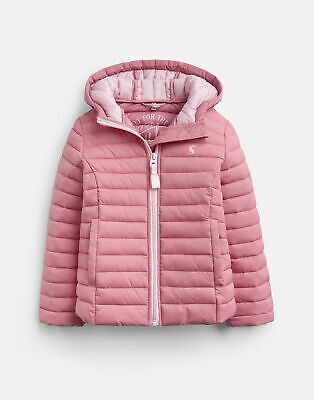 Joules Girls Kinnaird Padded Packable Coat  - CHERRY BLOSSOM Size 1yr