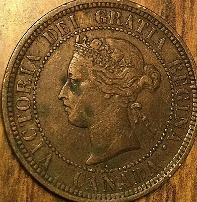 1882H CANADA LARGE CENT COIN LARGE 1 CENT PENNY - Obverse #1