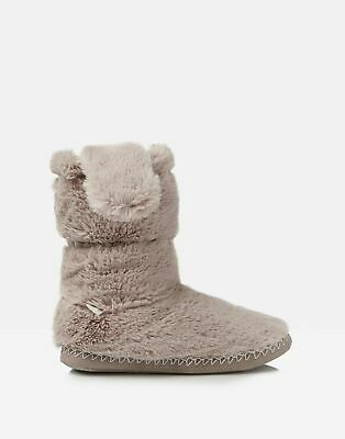 Joules Girls Padabout Luxe Slipper Socks - SOFT GREY Size L
