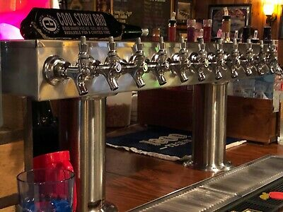 12 Keg micro matic draft  beer system with keg savers and glycol cooler