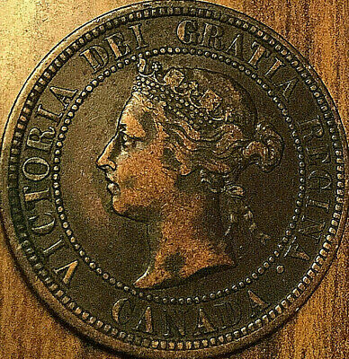 1887 Canada Large Cent Coin Large 1 Cent Penny