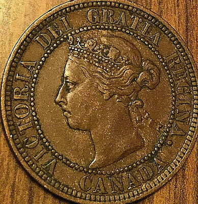 1888 Canada Large Cent Coin Large 1 Cent Penny