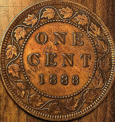 1888 CANADA LARGE CENT COIN LARGE 1 CENT PENNY - Cleaned