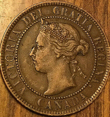 1893 Canada Large Cent Coin Large 1 Cent Penny