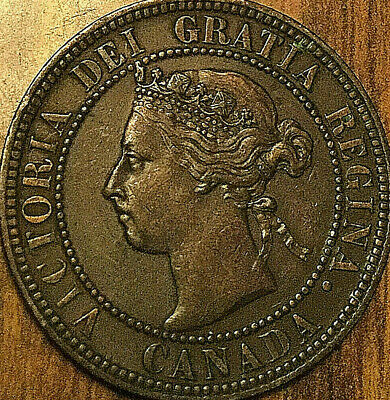 1901 Canada Large Cent Coin Large 1 Cent Penny