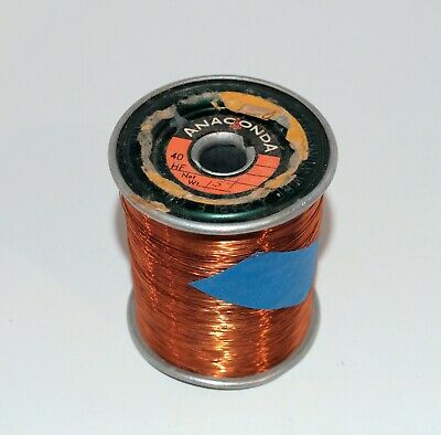 """32 AWG Gauge Enameled Copper Magnet Wire 1.5 lbs .0089"""" / .226mm"""