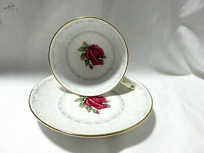 Vintage Paragon Fine Bone China Cup And Saucer With Red Rose