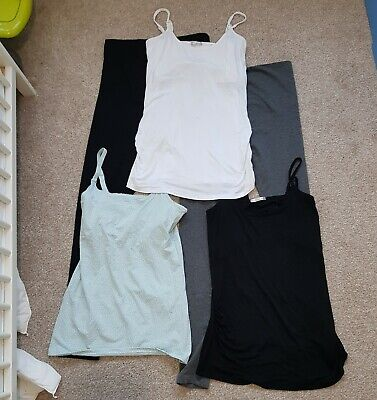 Mixed Maternity Clothes Bundle Leggings Vest Tops Size M 14 + Used & New Tags