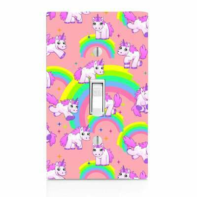 Pink Rainbow Unicorn, Light Switch Cover, Outlet, Home Decor, Night Light, Knob