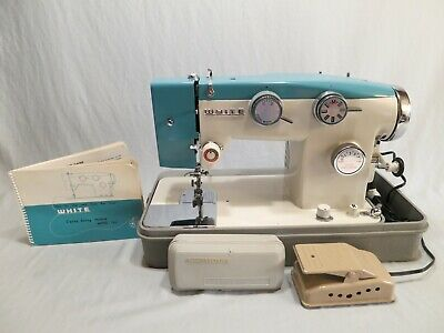 Vintage White 782 Heavy Duty Zig Zag Quilting Sewing Machine, Cleaned & Tested