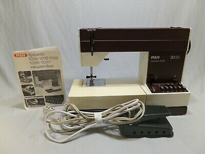 Vintage Pfaff Tipmatic 1035 Free Arm Sewing Machine with Original Case & Manual