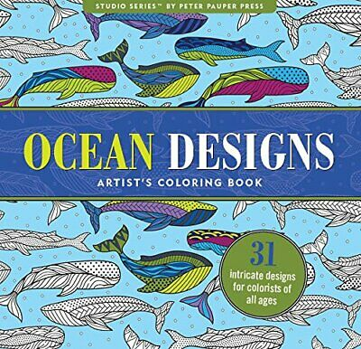 Ocean Designs Adult Coloring Book (31 stress-relieving ... by Peter Pauper Press