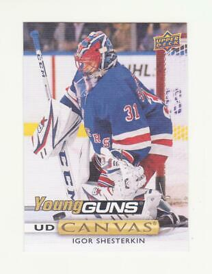 2019-20 UD Series 2 Igor Shesterkin Young Guns Canvas RC # C214 (19-20) NYR